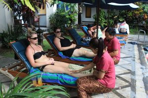 Massage at Pool Side