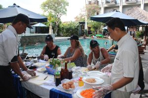 Cooking Class at Pool Side