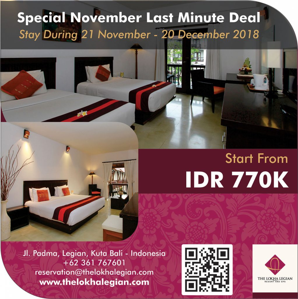 Special November Last Minute Deal